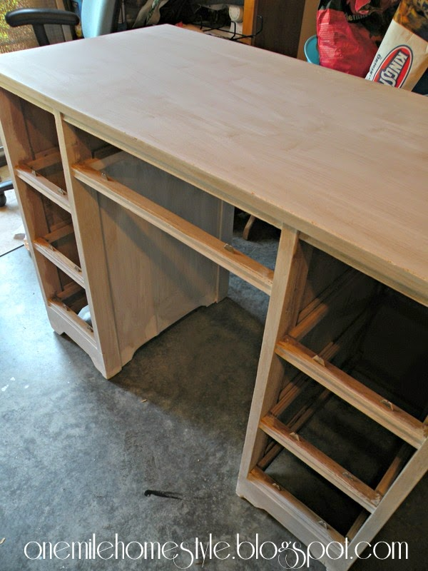 Kid's desk - sanded down with a coat of primer