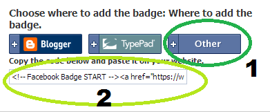select other option and pick the code of badge