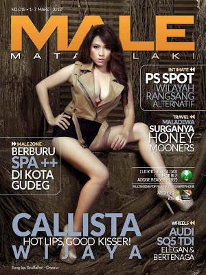 Foto Hot Callista Wijaya Di Majalah Male