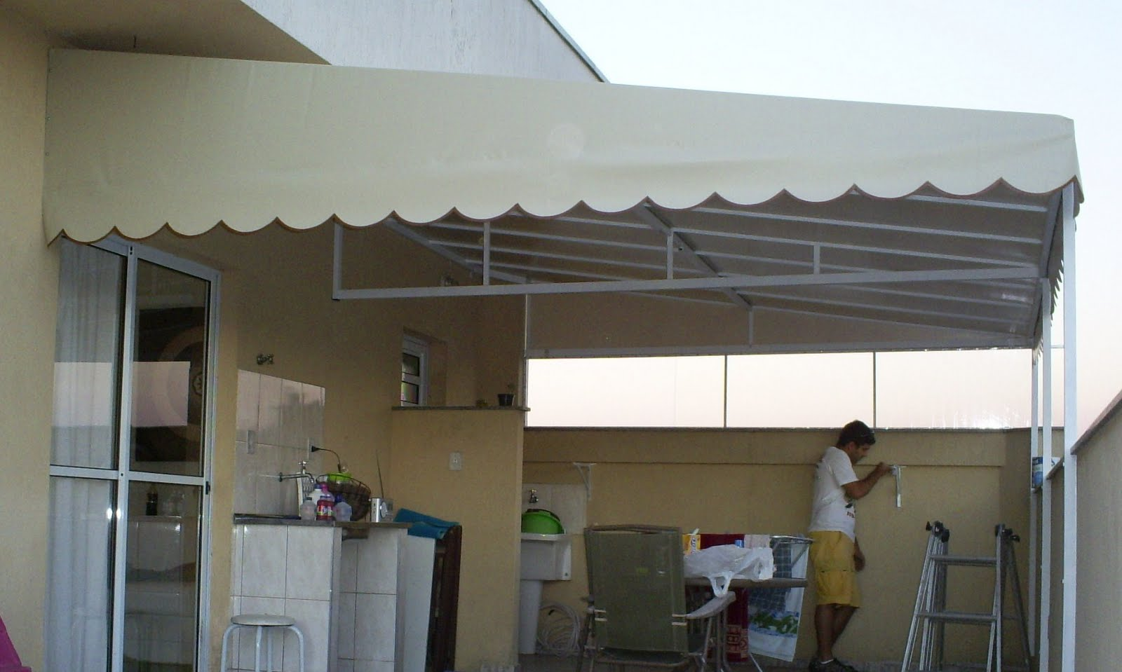 Unimetal toudos de ferro e lonas for Ver toldos para patios
