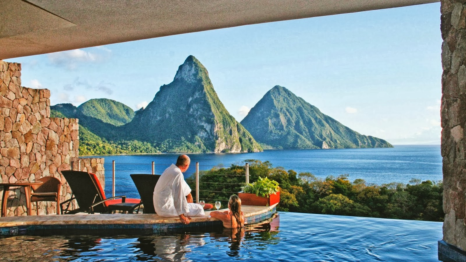 travel my way: caribbean, st. lucia, soufriere, jade mountain resort
