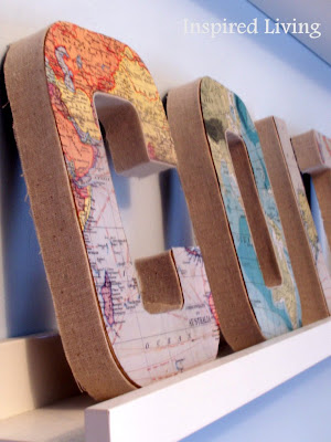 Map Wall Letters