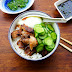 Chicken & Egg Rice Bowl With Green Chili Sauce