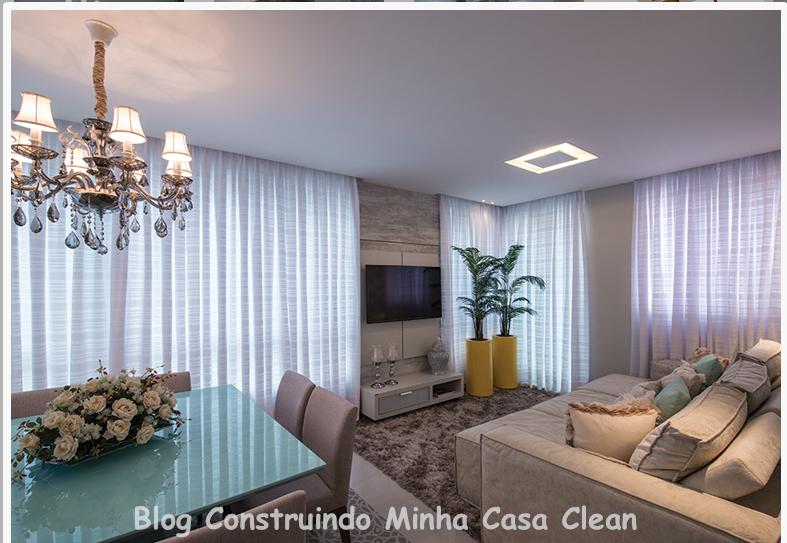 Sala De Estar Cinza E Turquesa ~ 21 Sofá super aconchegante bege claro e vasos amarelos com plantas