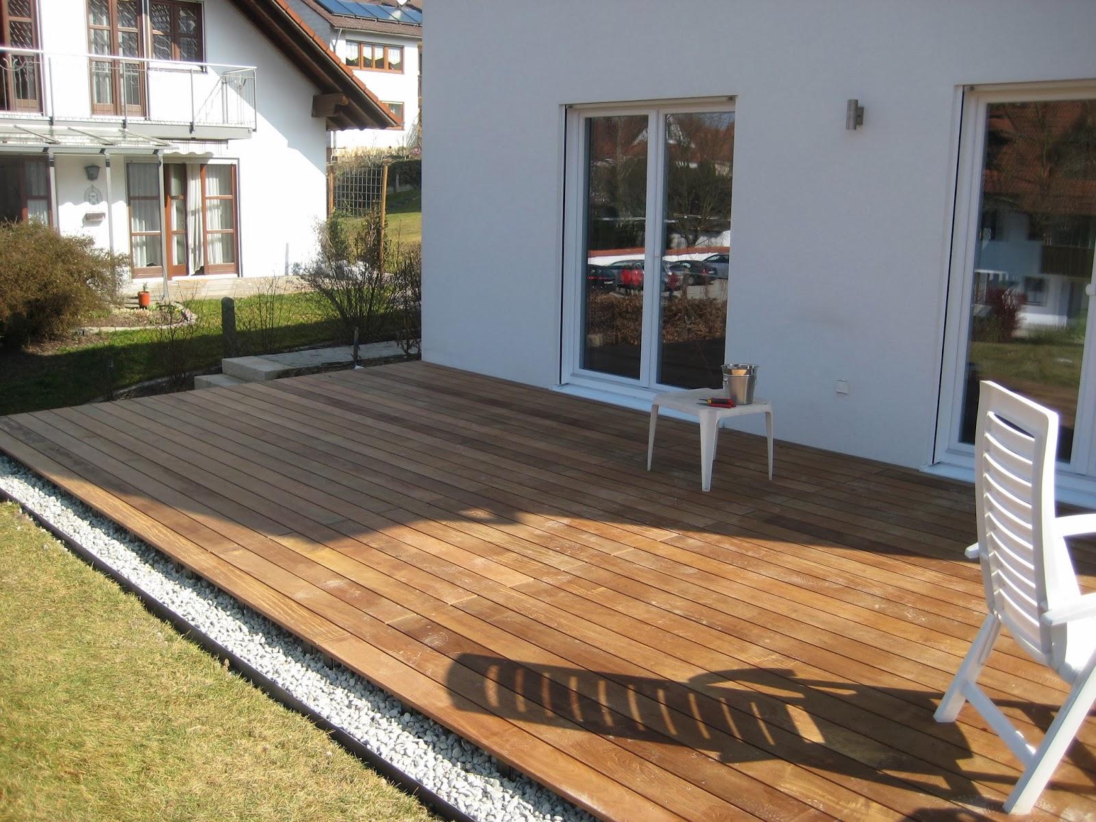 unser hausbau die terrasse ist fertig. Black Bedroom Furniture Sets. Home Design Ideas
