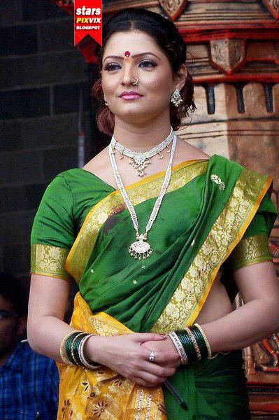 nisha parulekar photos in saree cute marathi actresses