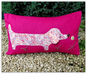 Dachshund cushion.
