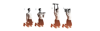 Shoulder press and triceps extension