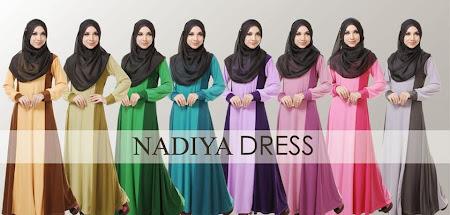 Nadiya Dress Dengan Cutting Princess YAng Sangat Flowly dan Menawan