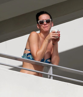 English: Katy Perry Blue Bikini Miami, FL, USA