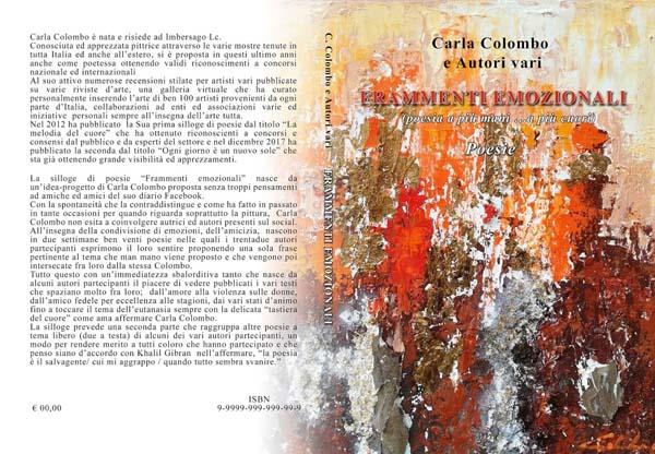 """La mia terza raccolta di poesie a più mani """"FRAMMENTO EMOZIONALI"""""""