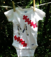 http://southernbelleseamstress.com/2015/05/how-to-sew-a-baseball-onesie-with-letter/