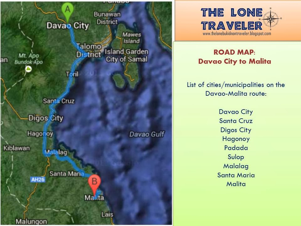 The lone traveler exploring davao occidentals capital malita road map guide to the 138 kilometer davao city malita route gumiabroncs Choice Image