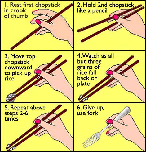 6 langkah mudah belajar guna chop stick