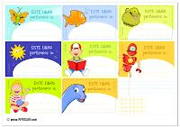 Etiquetas para libros de niños Pipo Exlibris