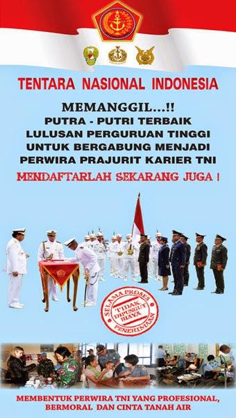 Seleksi Penerimaan Perwira Prajurit Karier TNI 2014,Penerimaan Perwira Prajurit Karier TNI 2014,Seleksi Penerimaan Perwira TNI
