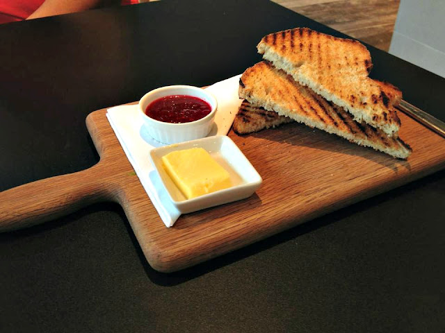 Toast and jam at Spicer+Cole