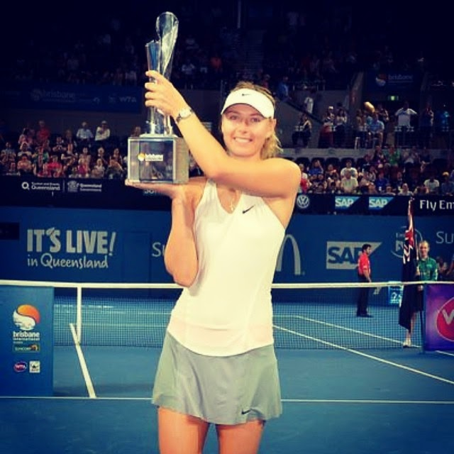 "And finally result. ""BRISBANE CHAMPION 2015! First tournament - first title. Congrats,"" Maria Sharapova shared a very positive words about her sport journey."