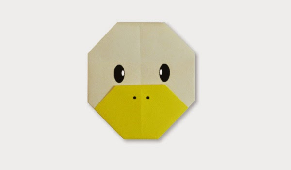 Origami Tutorials - How to make a face of Duck