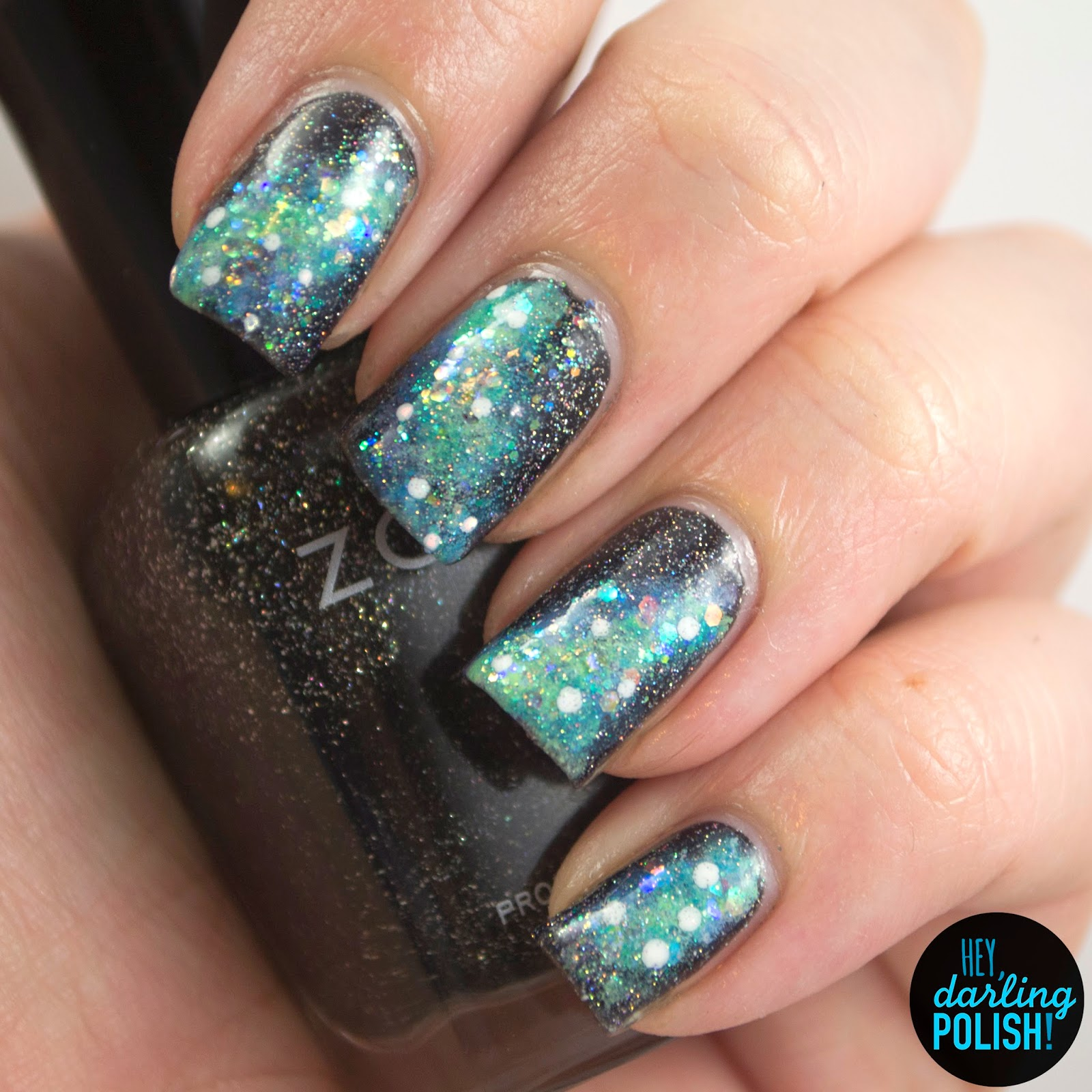 nails, nail polish, polish, nail art, galaxies, galaxy, theme buffet, sparkle, glitter, hey darling polish