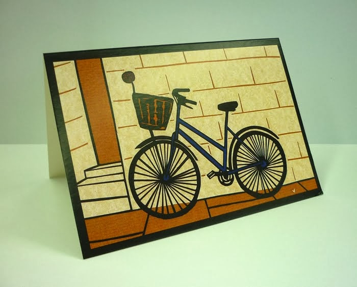 Click on the bike to buy my greetings cards!