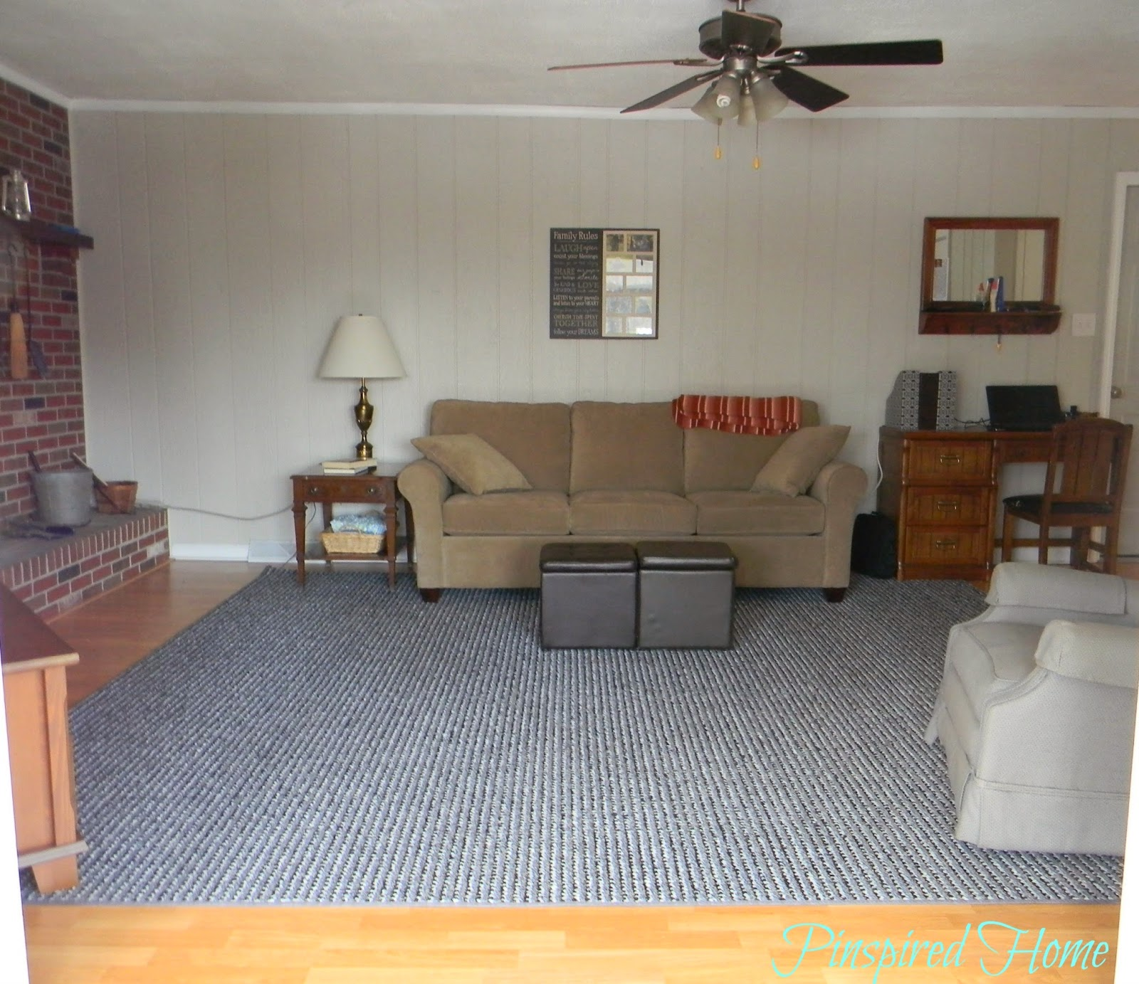 Pinspired Home: How We Found A Large Custom Area Rug For Less Than $200!