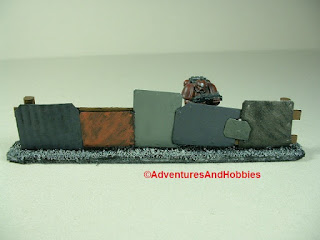 Urban 25-28mm war game terrain battlefield barricade made from scrap metal - close-up 3