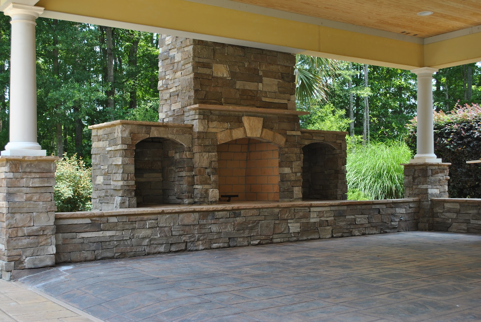 Outdoor kitchens from procare services procare custom for Outdoor cooking area and fireplace