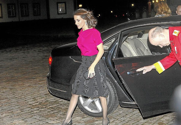 Crown Princess Mary of Denmark and Princess Marie attended the concert and dinner at Fredensborg Palace.