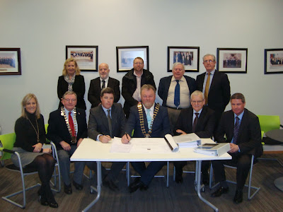 Shannon Town Sewerage Scheme contract is signed