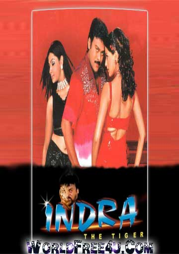 Poster Of Indra The Tiger (2002) BRRip Hindi Dubbed 720P Full Movie Free Download And Watch Online At worldfree4u.com