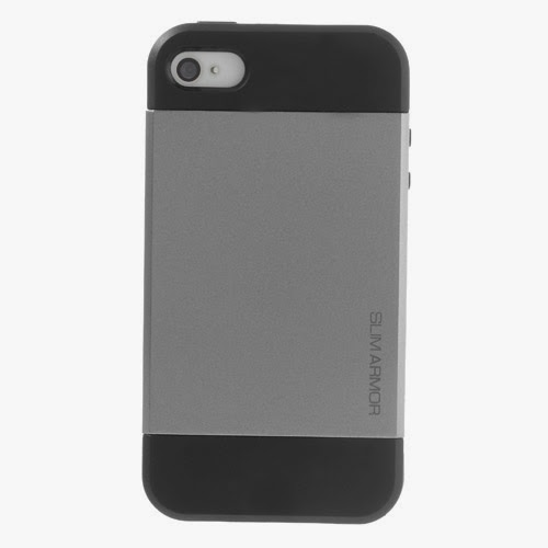 SGP Slim Armor TPU & PC Hybrid Case for iPhone 4 4S - Silver