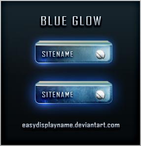 ايقونات احترافية زرقاء مضيئة Blue
