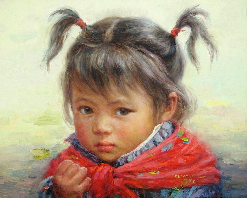retratos-pintados-de-niños