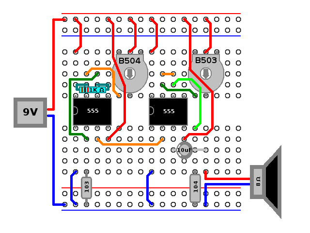 hobby electronix 2015 i used this schematic because it uses two 555s instead of one 556