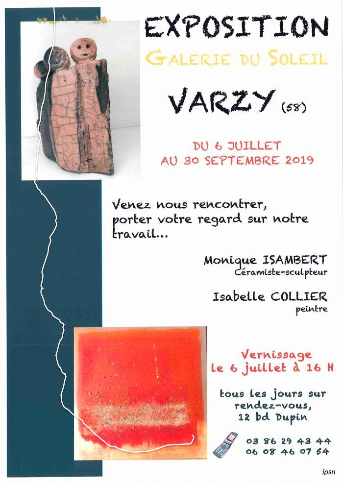 Exposition Galerie du soleil à Varzy Du 6 juillet au 30 septembre 2019