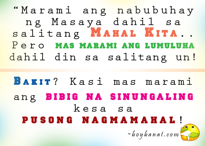 Filipino Funny Love Quotes : Pinoy Love Quotes, Tagalog Love Quotes and Cheesy Lines - Boy Banat