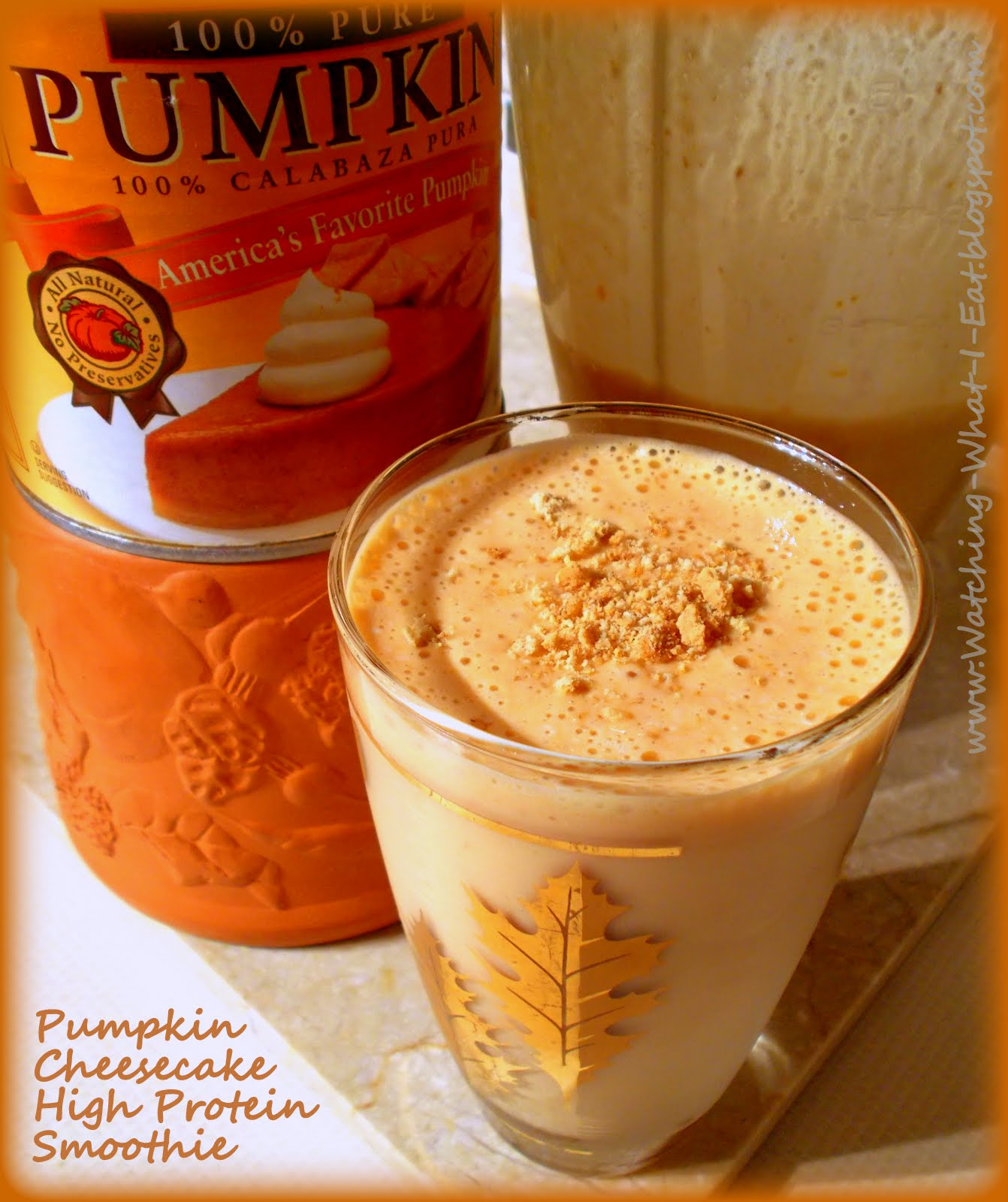 Pumpkin Cheesecake High Protein Smoothie ~ Another way to eat pumpkin ...