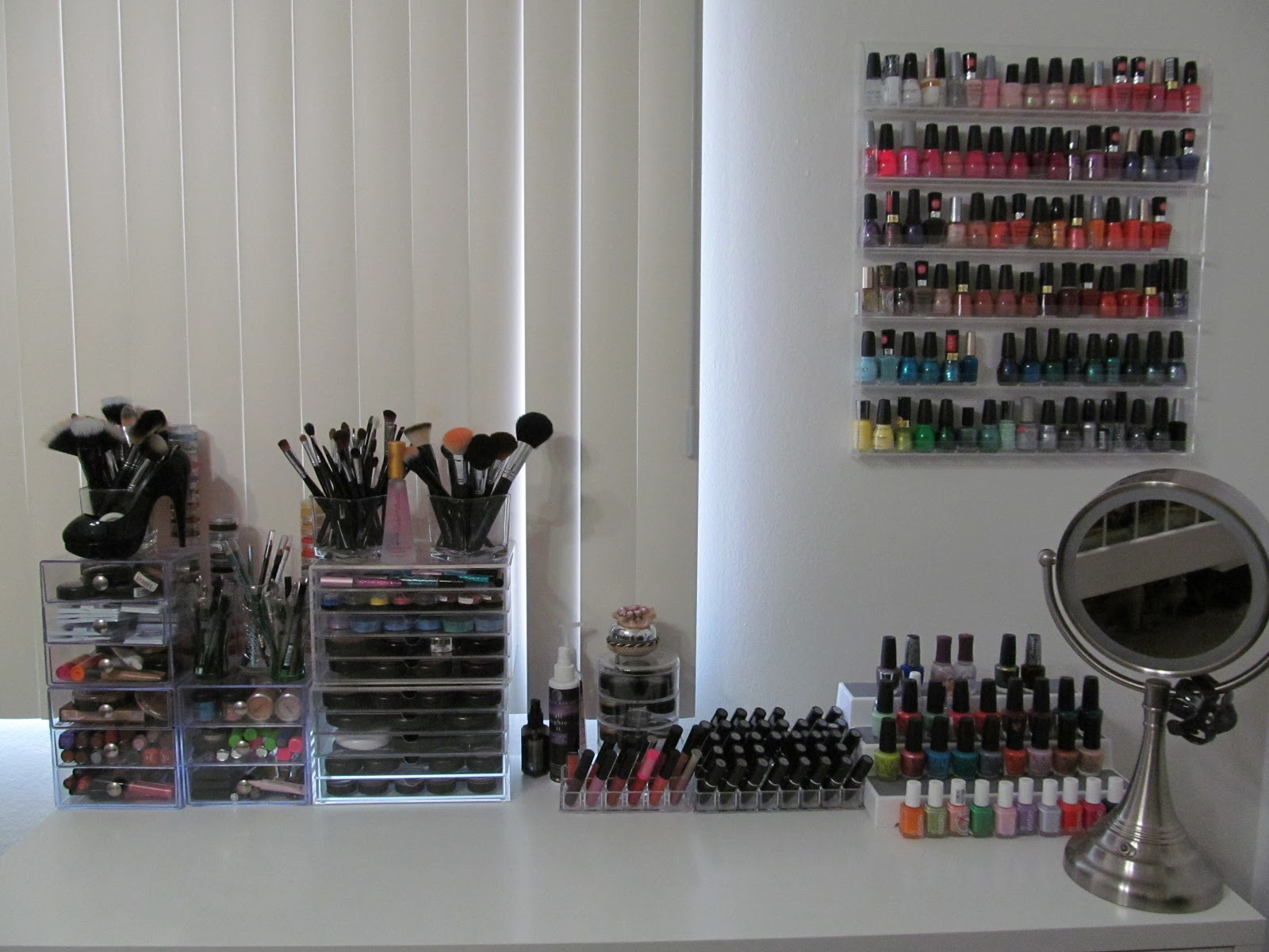 Makeup Vanity Organization Ideas Makeup Vidalondon