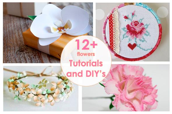 Рукодельный обзор, New Tutorials and DIY's to Try, цветы, flowers, handmade, своими руками, мастер классы