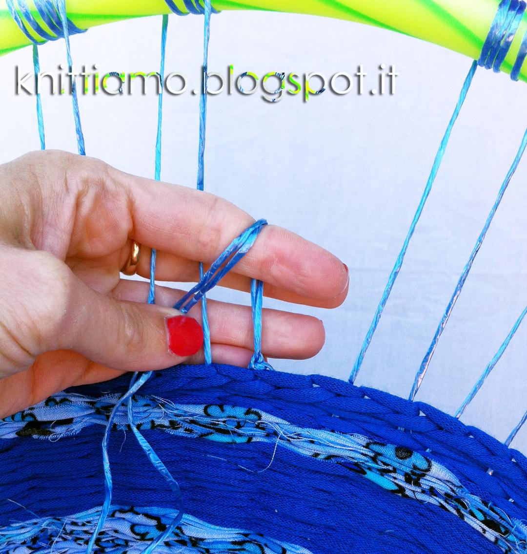 cercio hulahop per tessere cestino