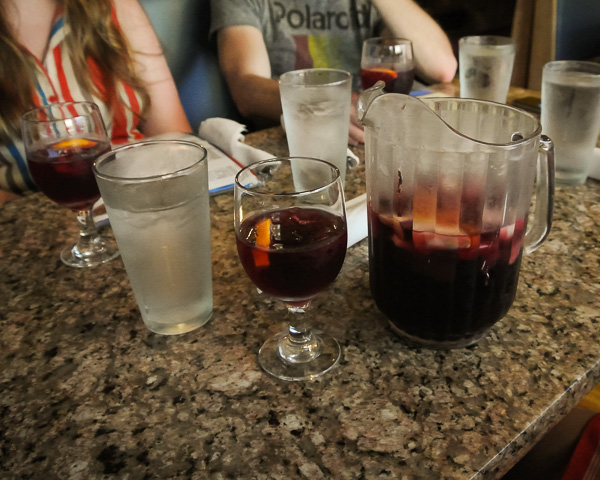 Sangria at Mi Tierra restaurant in Waltham Massachusetts