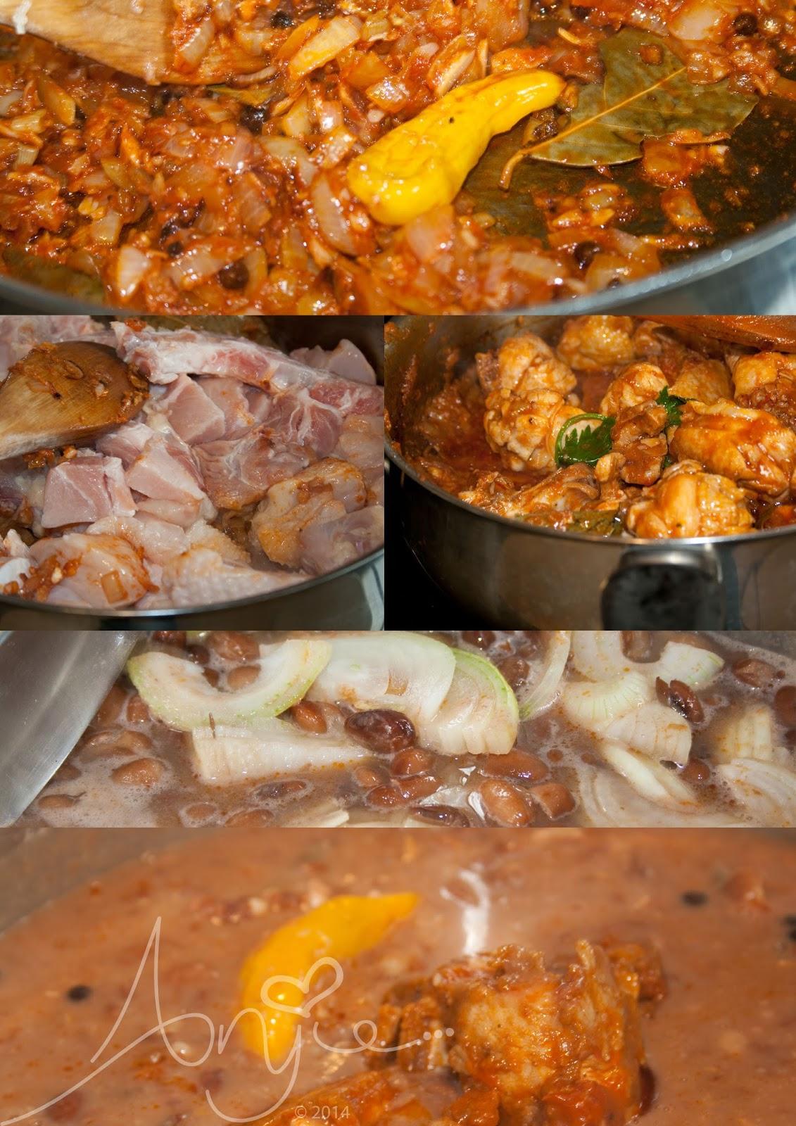 Recept bruine bonen, brown beans recipe, Surinaams
