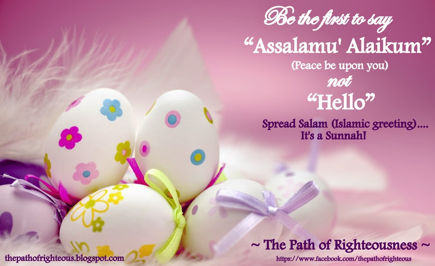 Spread Salam Islamic Greeting The Path Of Righteousness