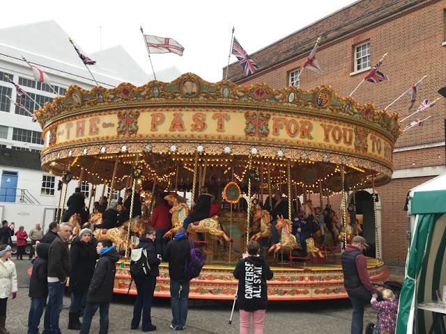 A Victorian carousel