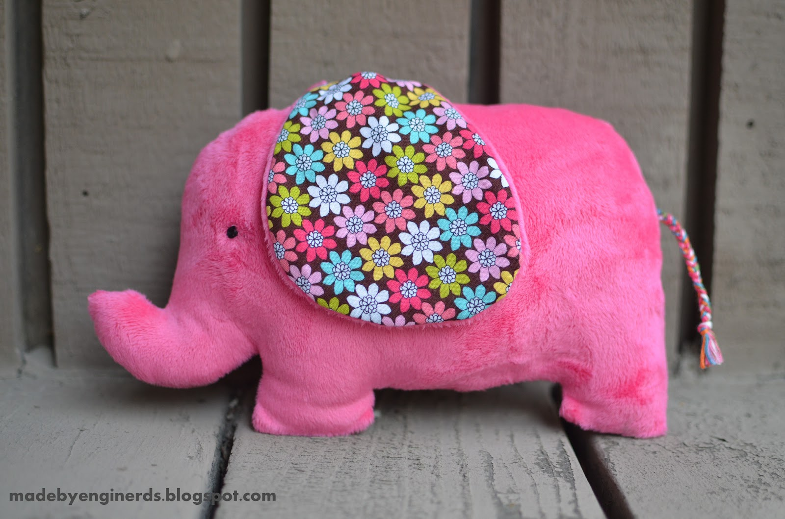 Made by enginerds elephant stuffed animal tutorial with pattern jeuxipadfo Choice Image
