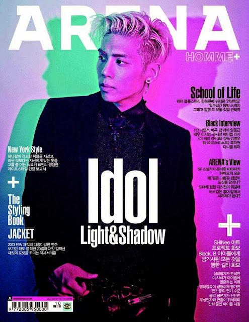 shinee jonghyun arena homme plus cover