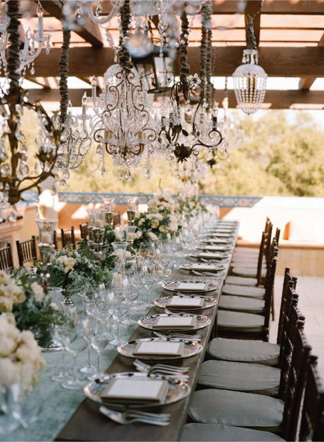 Crystal Chandeliers Wedding Decor : Chandeliers and outdoor weddings belle the magazine