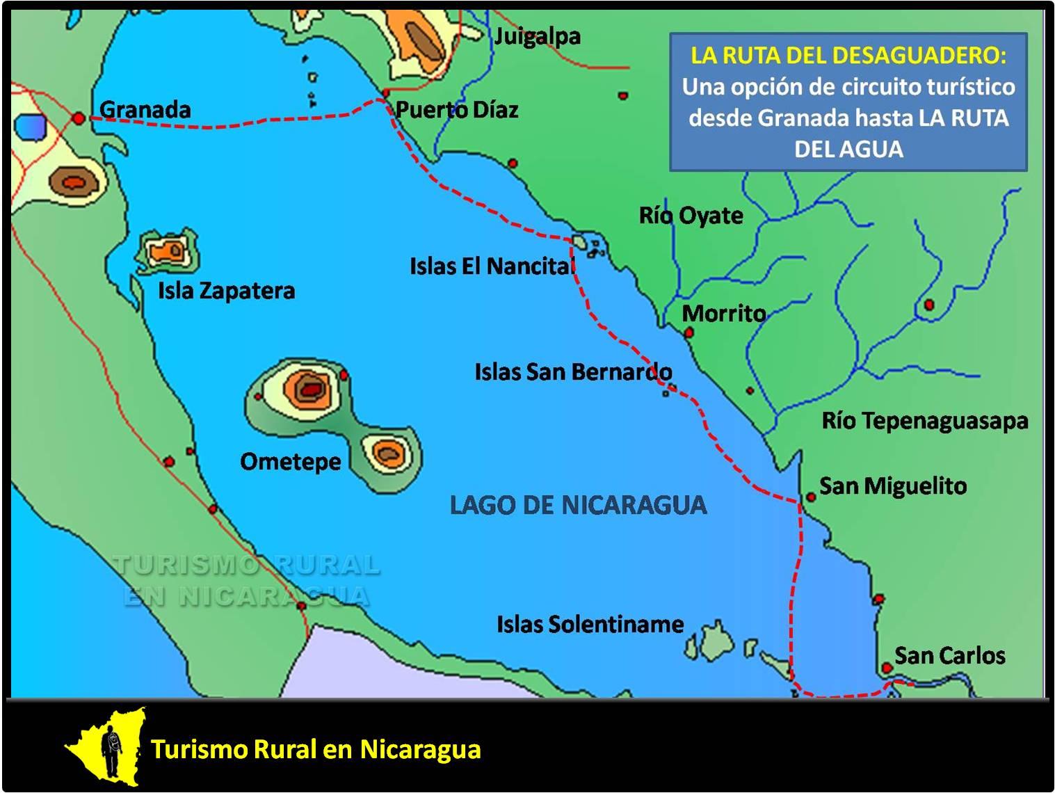 Circuito W Mapa : Turismo rural en nicaragua: 08 21 12