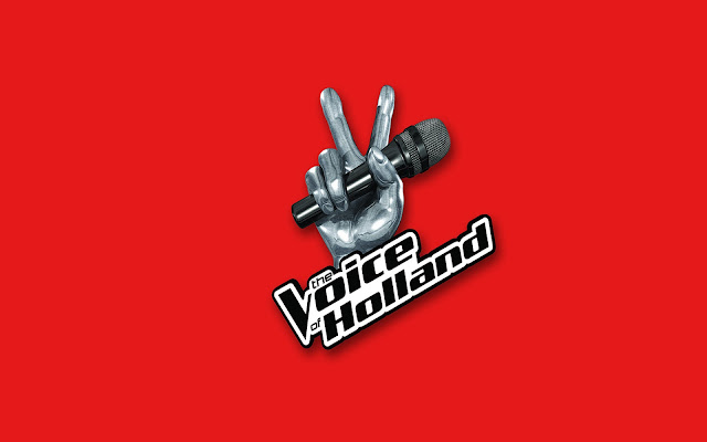The Voice of Holland achtergrond in het rood